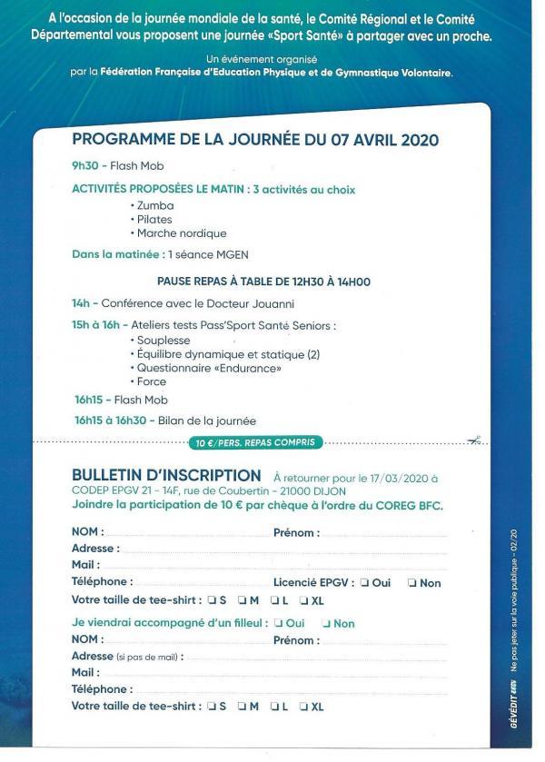 Bulletin d inscription vita fede tour