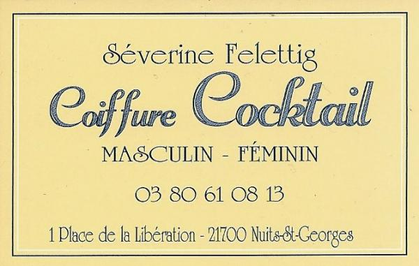 Carte coiffure cocktail