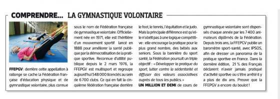 La gv a l honneur dans le journal l equipe edition du 11 mars 2014