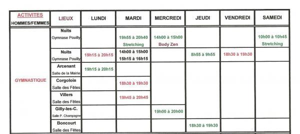Planning gym 2
