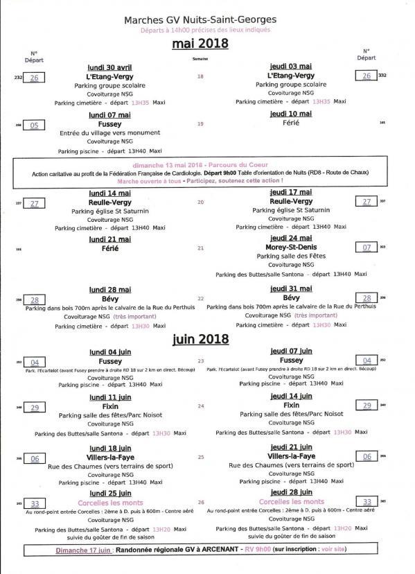 Planning mai juin