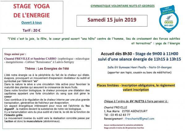 Stage yoga 15 06 19