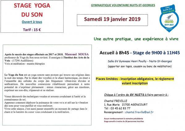 Stage yoga du son 19 01 19